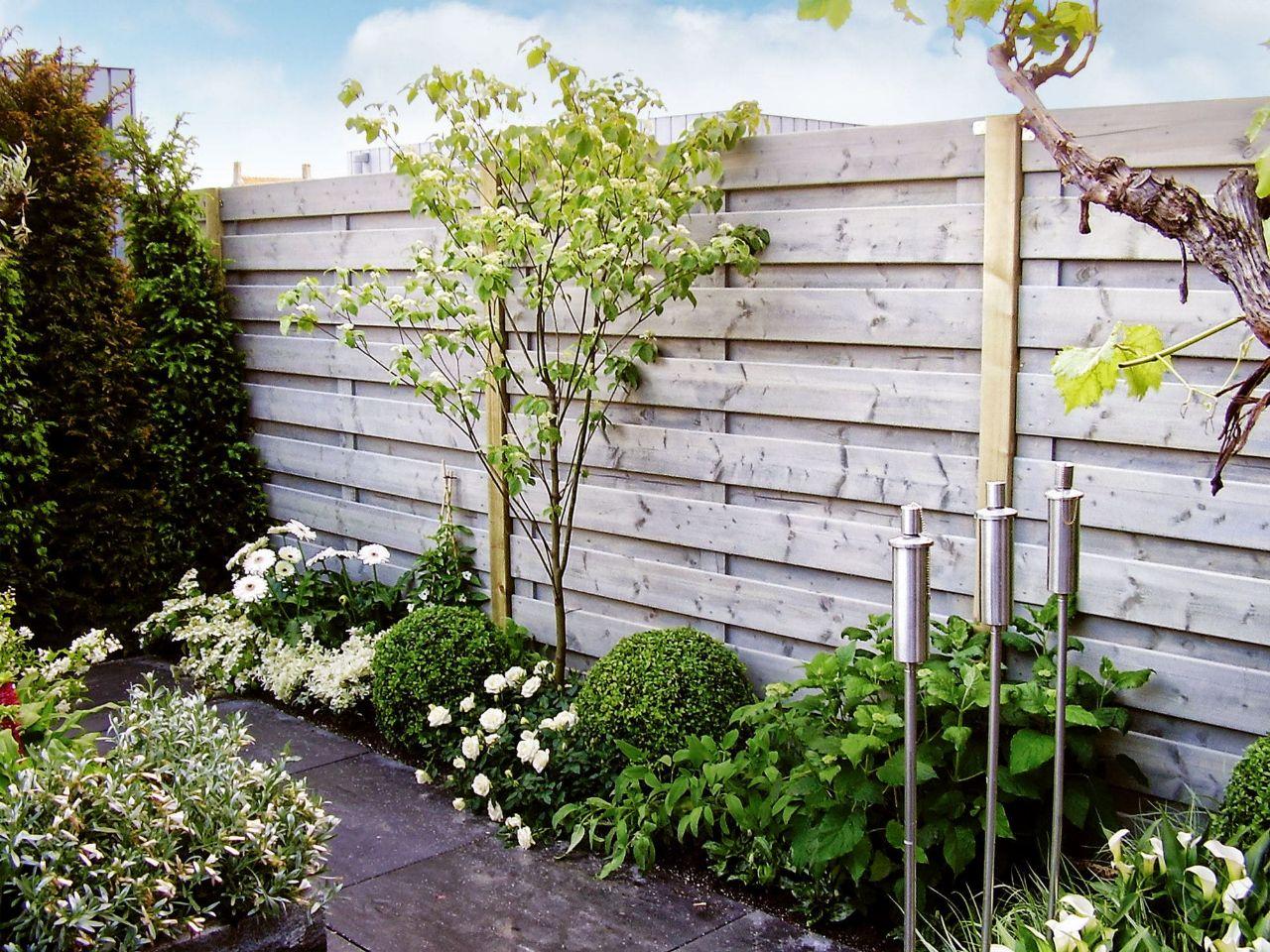 nieuwe schutting tuin
